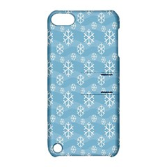 Snowflakes Winter Christmas Apple Ipod Touch 5 Hardshell Case With Stand