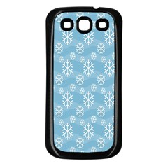 Snowflakes Winter Christmas Samsung Galaxy S3 Back Case (black)
