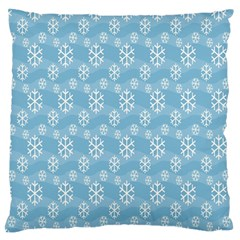 Snowflakes Winter Christmas Standard Flano Cushion Case (two Sides)