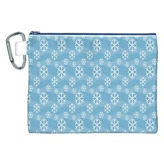 Snowflakes Winter Christmas Canvas Cosmetic Bag (XXL)