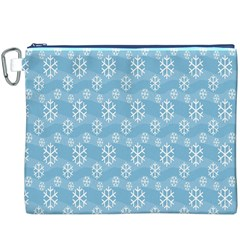 Snowflakes Winter Christmas Canvas Cosmetic Bag (xxxl)