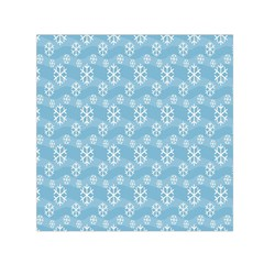 Snowflakes Winter Christmas Small Satin Scarf (Square)