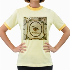 Sousse Mosaic Xenia Patterns Women s Fitted Ringer T-Shirts
