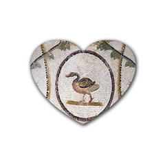 Sousse Mosaic Xenia Patterns Rubber Coaster (Heart)