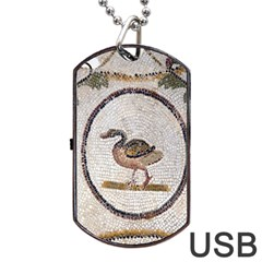 Sousse Mosaic Xenia Patterns Dog Tag USB Flash (Two Sides)