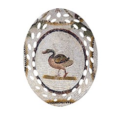 Sousse Mosaic Xenia Patterns Oval Filigree Ornament (two Sides)
