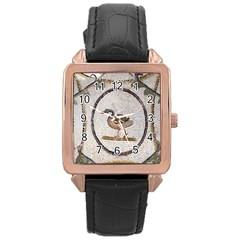 Sousse Mosaic Xenia Patterns Rose Gold Leather Watch