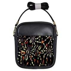 Spiders Colorful Girls Sling Bags