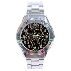 Spiders Colorful Stainless Steel Analogue Watch