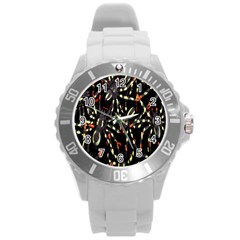 Spiders Colorful Round Plastic Sport Watch (l)