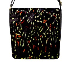 Spiders Colorful Flap Messenger Bag (l)