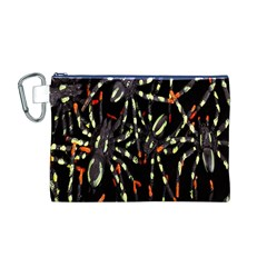 Spiders Colorful Canvas Cosmetic Bag (M)