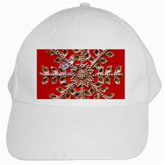 Snowflake Jeweled White Cap
