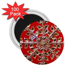 Snowflake Jeweled 2.25  Magnets (100 pack)