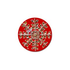 Snowflake Jeweled Golf Ball Marker (10 pack)