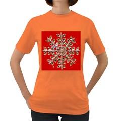 Snowflake Jeweled Women s Dark T-Shirt