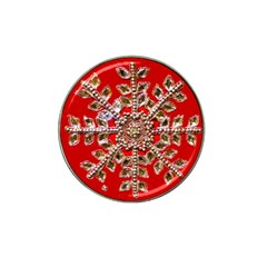 Snowflake Jeweled Hat Clip Ball Marker (4 pack)