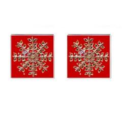 Snowflake Jeweled Cufflinks (Square)