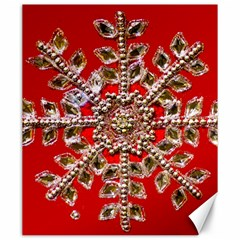 Snowflake Jeweled Canvas 20  x 24