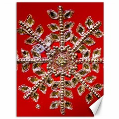 Snowflake Jeweled Canvas 36  X 48