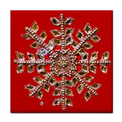 Snowflake Jeweled Face Towel