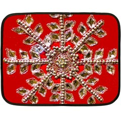 Snowflake Jeweled Double Sided Fleece Blanket (mini)