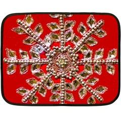 Snowflake Jeweled Double Sided Fleece Blanket (Mini)