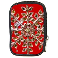 Snowflake Jeweled Compact Camera Cases