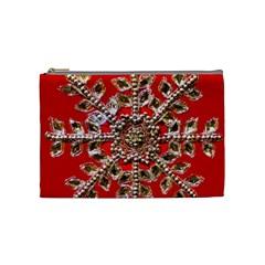 Snowflake Jeweled Cosmetic Bag (Medium)