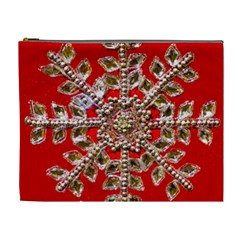 Snowflake Jeweled Cosmetic Bag (xl)