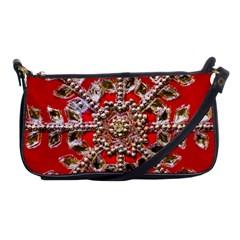 Snowflake Jeweled Shoulder Clutch Bags