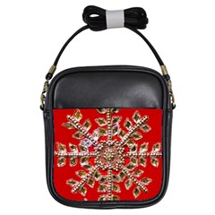 Snowflake Jeweled Girls Sling Bags