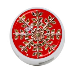 Snowflake Jeweled 4-Port USB Hub (Two Sides)
