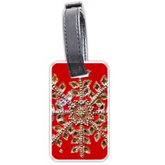 Snowflake Jeweled Luggage Tags (Two Sides)