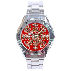 Snowflake Jeweled Stainless Steel Analogue Watch