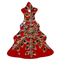 Snowflake Jeweled Christmas Tree Ornament (two Sides)