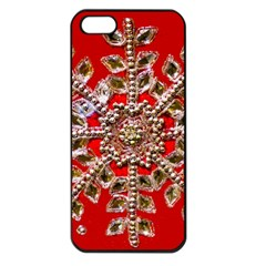 Snowflake Jeweled Apple Iphone 5 Seamless Case (black)