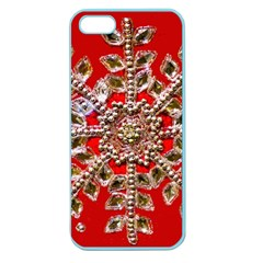 Snowflake Jeweled Apple Seamless iPhone 5 Case (Color)