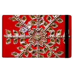 Snowflake Jeweled Apple Ipad 2 Flip Case