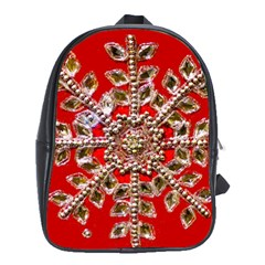 Snowflake Jeweled School Bags (xl)