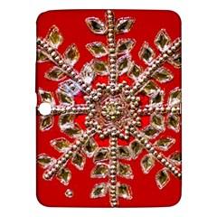 Snowflake Jeweled Samsung Galaxy Tab 3 (10.1 ) P5200 Hardshell Case