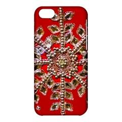 Snowflake Jeweled Apple Iphone 5c Hardshell Case