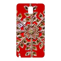 Snowflake Jeweled Samsung Galaxy Note 3 N9005 Hardshell Back Case