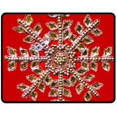 Snowflake Jeweled Double Sided Fleece Blanket (medium)