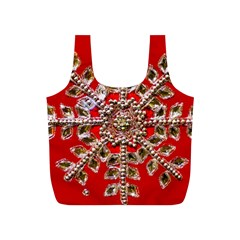 Snowflake Jeweled Full Print Recycle Bags (S)