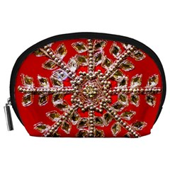 Snowflake Jeweled Accessory Pouches (Large)