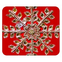 Snowflake Jeweled Double Sided Flano Blanket (Small)
