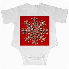 Snowflake Jeweled Infant Creepers