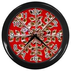 Snowflake Jeweled Wall Clocks (black)