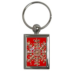 Snowflake Jeweled Key Chains (rectangle)